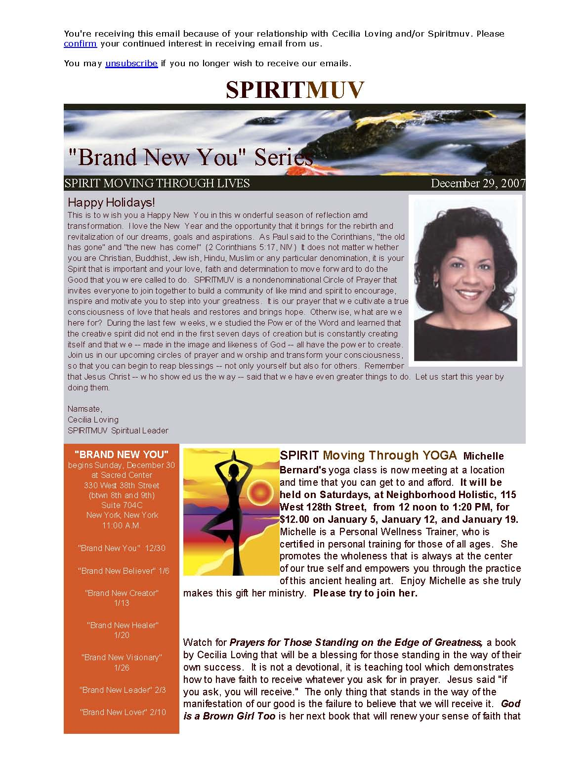 December 2007 A Brand New You