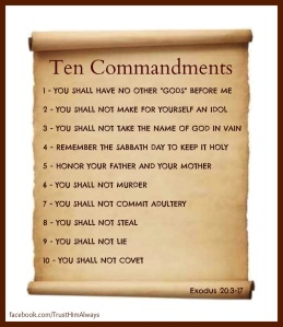Exodus 20 ten commandments