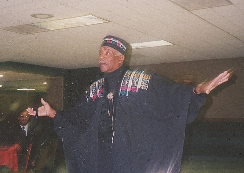 Hicery Ross Jr Modeling at a Fashion Show. Around 1996. Detroit